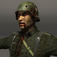 zombie soldier german 3d model