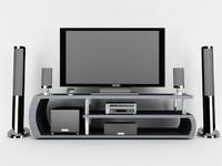 3d model tv speakers receiver