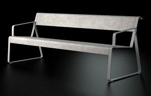 miramondo bench 3d max