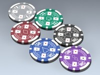 3ds poker chips