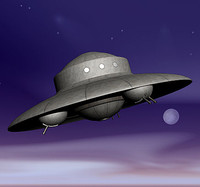 haunebu nazi ufo ww2 3d model