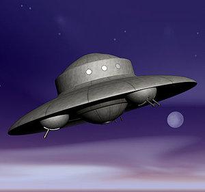 haunebu nazi ufo ww2 3d model