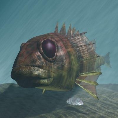 3d model lion fish rascasse