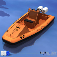 rescue boat water c4d