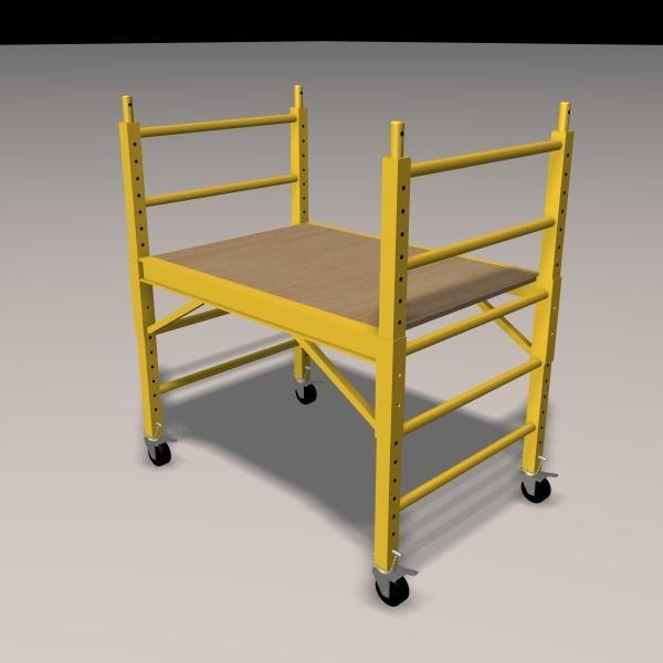 3d scaffolding plank wheels