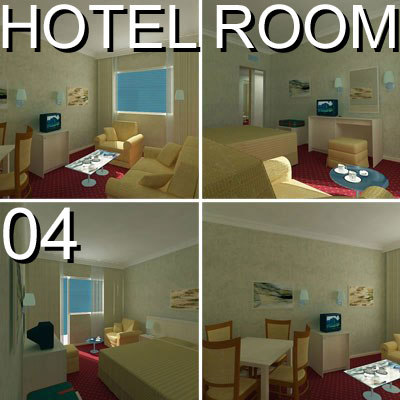 3d hotel guest room 04