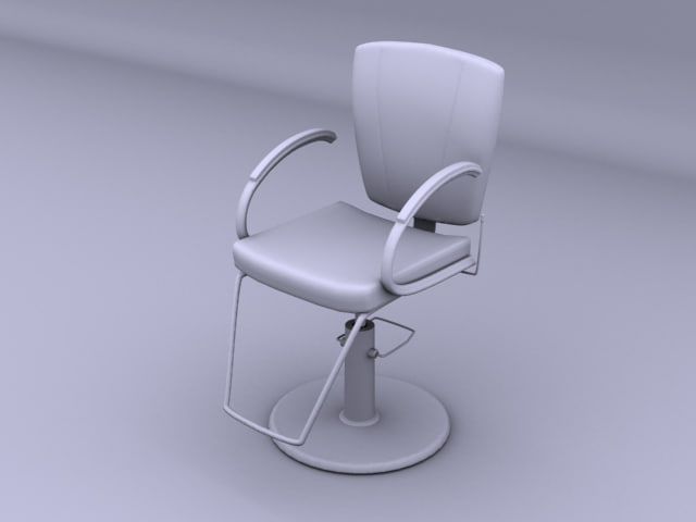 3d model styling office chair