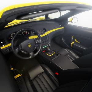 3d model maserati grancabrio 2010 car