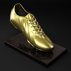 golden boot award 3d model