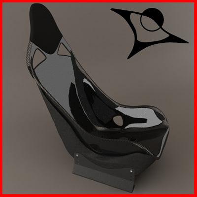3d model carbon seat