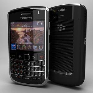 blackberry bold 9650 3d model