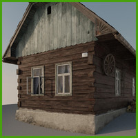 old wood house 3d model