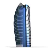 3d building skyscraper