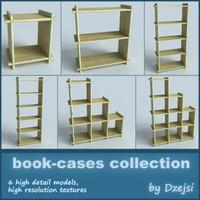 3d book-cases furniture