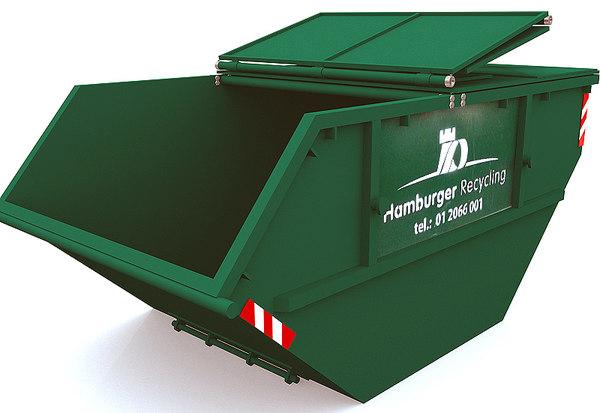 trash container dumpster 3d model
