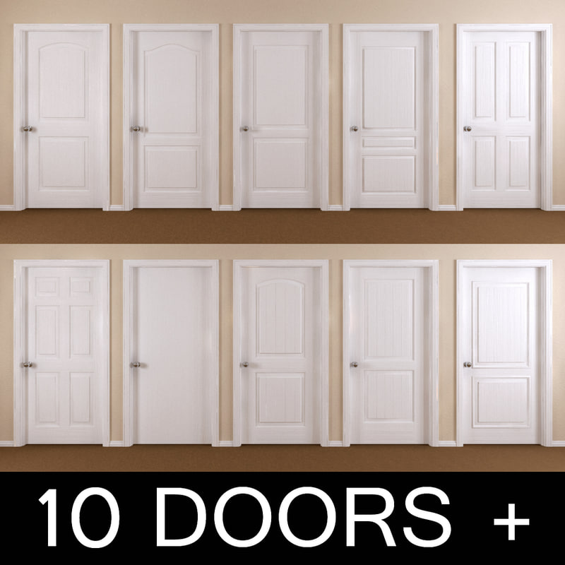 10 interior doors 3ds