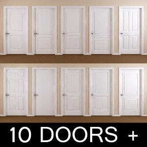 10 interior doors 3ds
