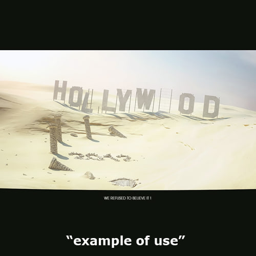 hollywood sign 3d c4d