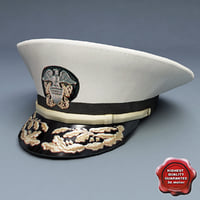 admiral hat 3d max