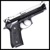 3dsmax beretta m9 pistol