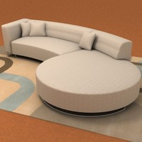 modern calcutta sofa 3d 3ds