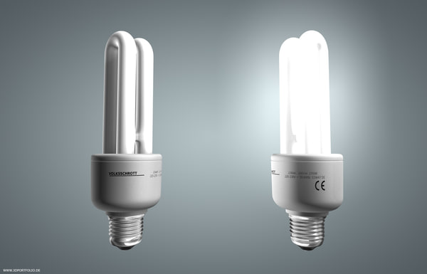 3d model energy saving lamp