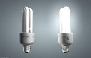 3d model energy saving lamp