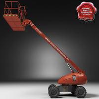 haulotte hb40 boom lift 3d model
