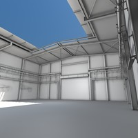 industrial hall 3d 3ds