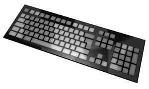 qwerty keyboard 3d model