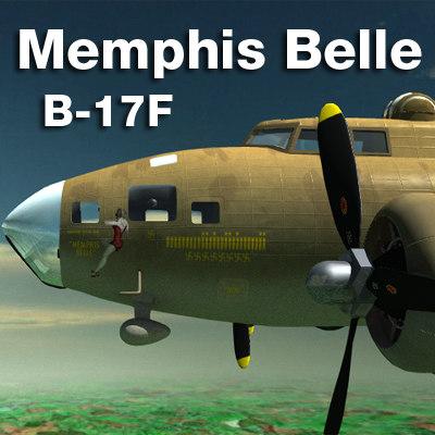memphis belle bomber b-17f 3d 3ds
