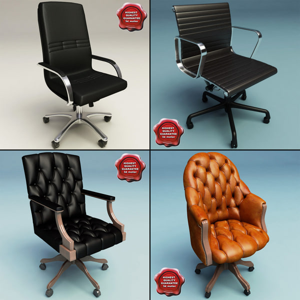 3d model office chairs v2