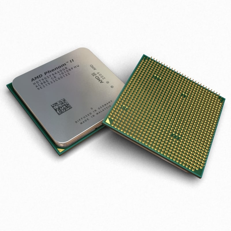 3d model processor amd phenom ii