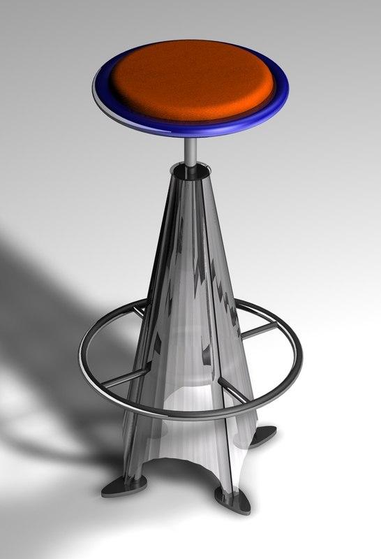 3d stool furniture model