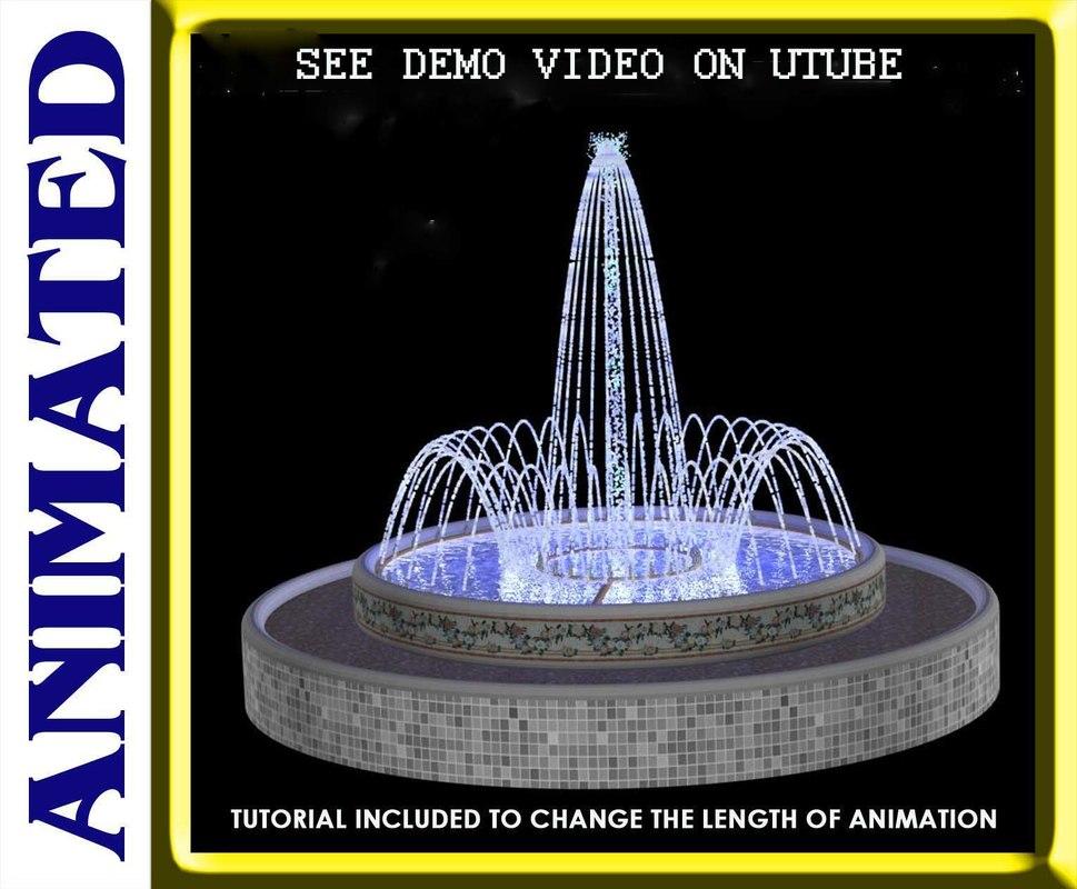 fountain spray ring 3d model