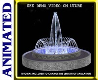 fountain spray ring 3d model