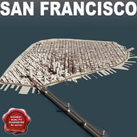 san francisco town 3d model
