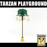 playground element - tarzan 3d model
