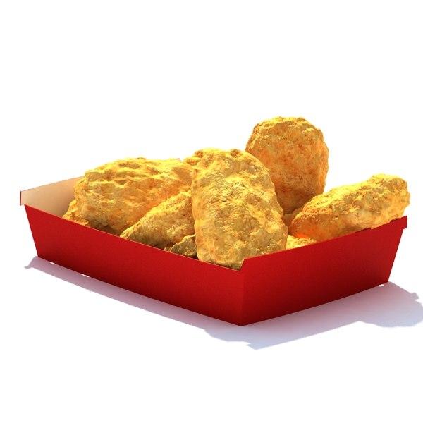 10piece chicken nuggets 3d model