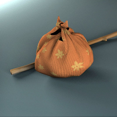 bundle cloth 3d model