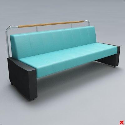 3d chair waiting model