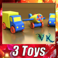 3 toys 3d model