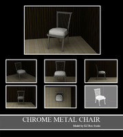 3d chrome metal chair model