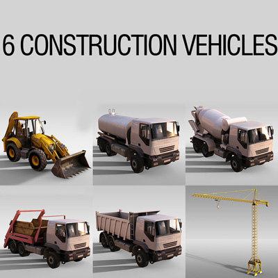 3d 6 construction vehicles