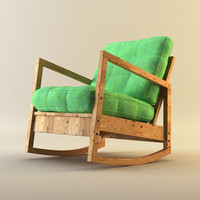 3d model lillberg rocking chair