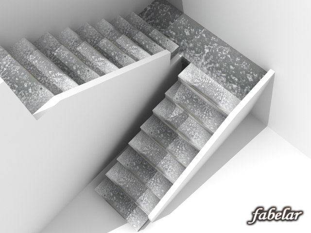 stone stairs 3d model