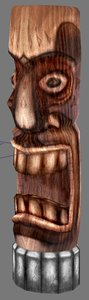 3d tiki statue model