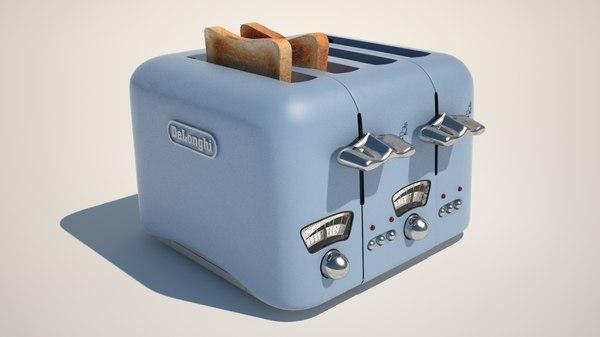 toaster - delonghi toast 3d model