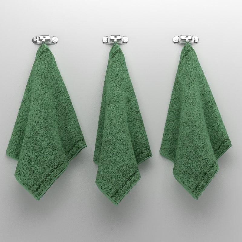 3d model towels