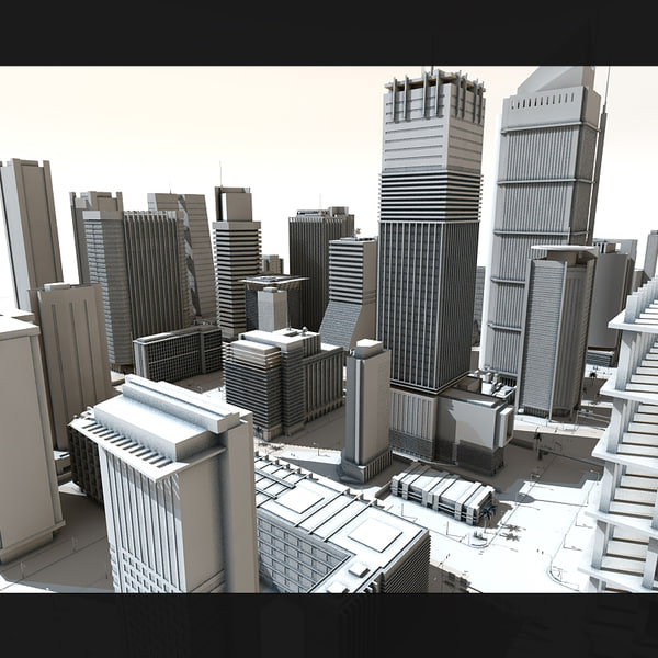 city buildings tower 3d model